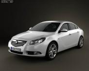 3D model of Vauxhall Insignia Sedan 2009