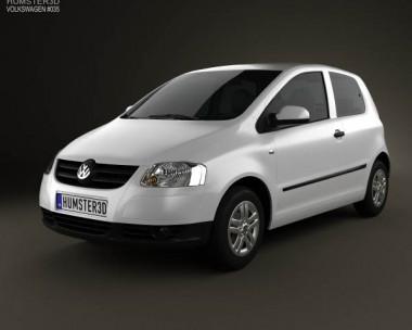 3D model of Volkswagen Fox (Lupo) 3-door 2005