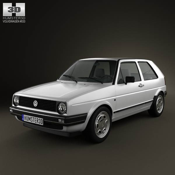 Volkswagen Golf Mk2 3-door 1983 3d car model