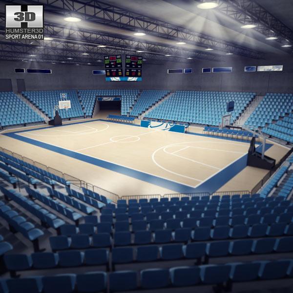 3D Basketball Arena Model