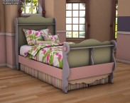 3D model of Ashley Doll House Twin Sleigh Bed