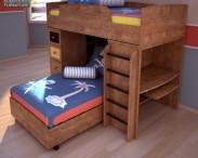 3D model of Ashley Alexander Youth Loft Bed