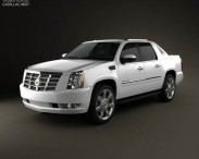3D model of Cadillac Escalade EXT 2011