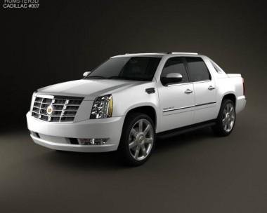 3D model of Cadillac Escalade EXT 2011