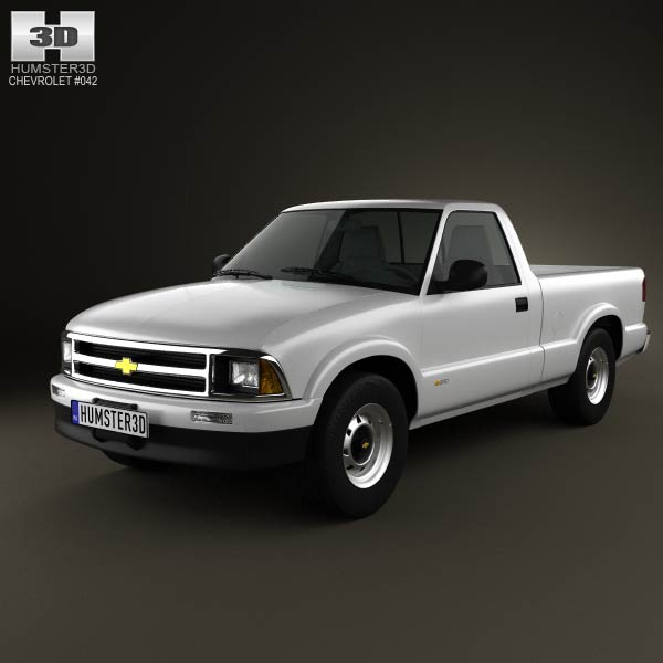 Chevrolet S10 Single Cab Standart Bed 1994 3d car model