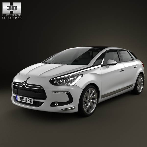 Citroen DS5 2012 3d car model