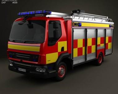 3D model of DAF LF Fire Truck 2011