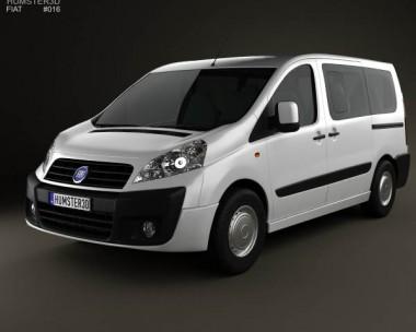 3D model of Fiat Scudo Panorama ShortWheelbase 4-door 2011