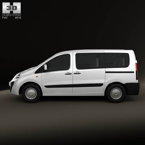 fiat scudo panorama shortwheelbase 2011 3d model humster3d. Black Bedroom Furniture Sets. Home Design Ideas