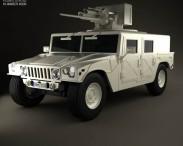 3D model of Hummer M242 Bushmaster 2011