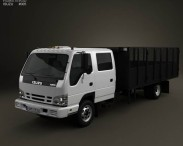3D model of Isuzu NPR Dump Truck 2011