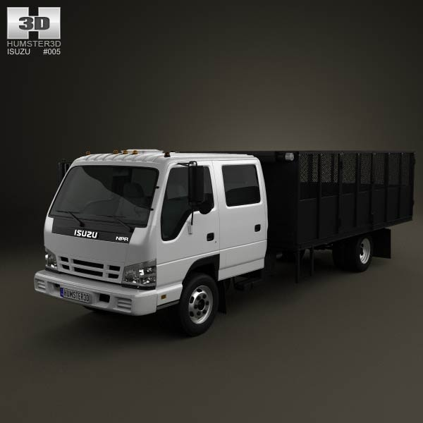 Isuzu NPR Dump Truck 2011 3d car model