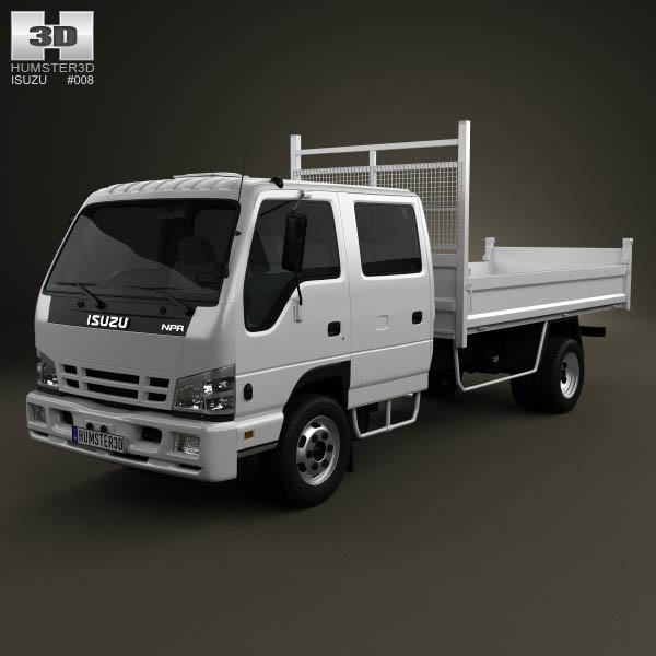 Isuzu NPR Road Tipper Van 2011 3d car model