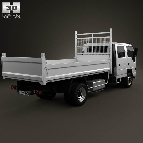 Isuzu NPR Tipper Van Truck 2011 3d model
