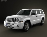 3D model of Jeep Patriot 2011