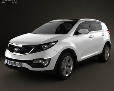 3D model of Kia Sportage with HQ Interior 2011