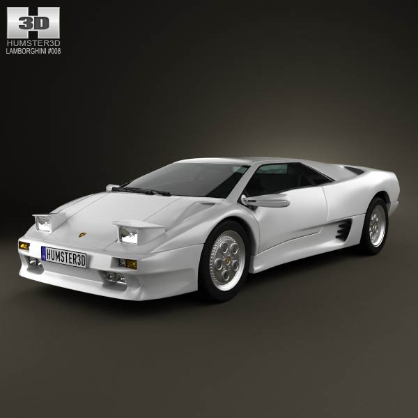Lamborghini Diablo VT 1993 3d car model