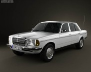 3D model of Mercedes-Benz W123 sedan 1975