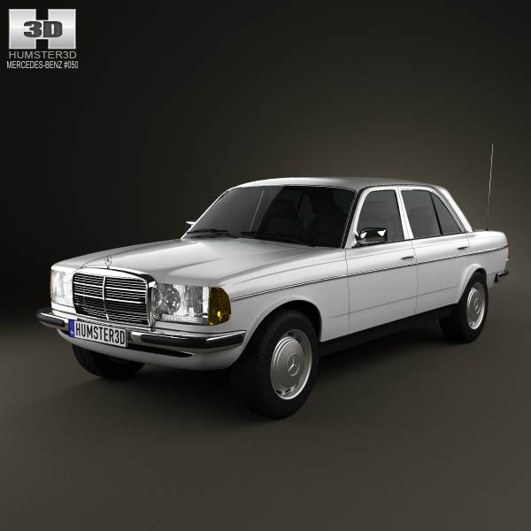 Mercedes-Benz W123 sedan 1975 3d car model