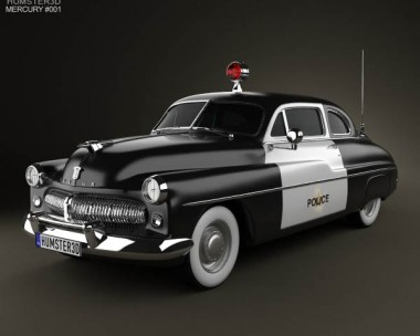3D model of Mercury Eight Coupe Police 1949