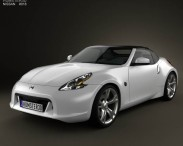 3D model of Nissan 370Z Roadster 2009