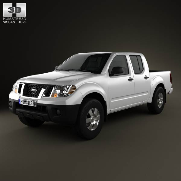 Nissan Frontier Crew Cab Short Bed 2012 3d car model