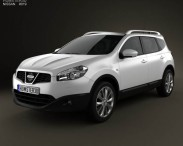 3D model of Nissan Qashqai+2 2010