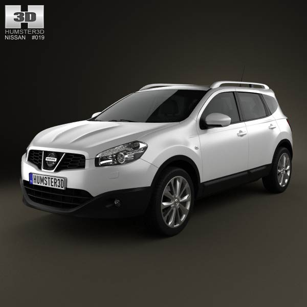 Nissan Qashqai+2 2010 3d car model