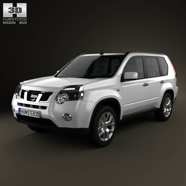 nissan x trail 2011 3d model humster3d. Black Bedroom Furniture Sets. Home Design Ideas