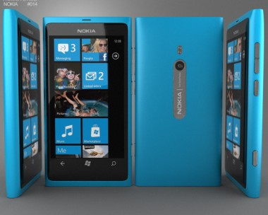 3D model of Nokia Lumia 800