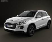 3D model of Peugeot 4008 2012