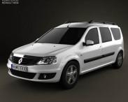 3D model of Renault Logan MCV 2011