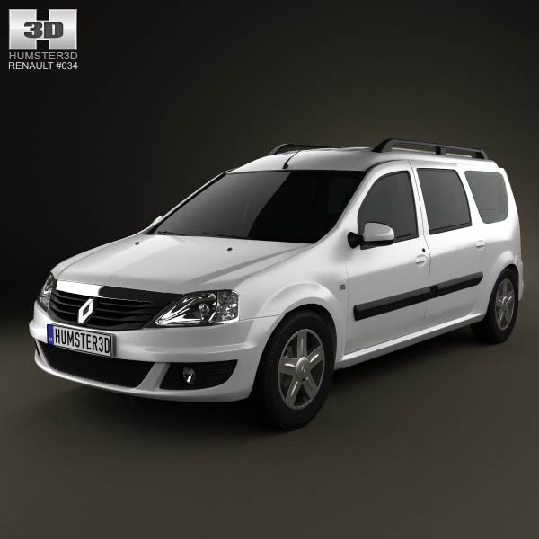 Renault Logan MCV 2011 3d car model