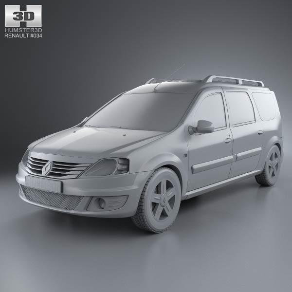 renault logan mcv 2011 3d model humster3d. Black Bedroom Furniture Sets. Home Design Ideas