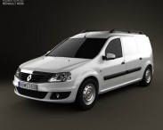 3D model of Renault Logan Van 2011