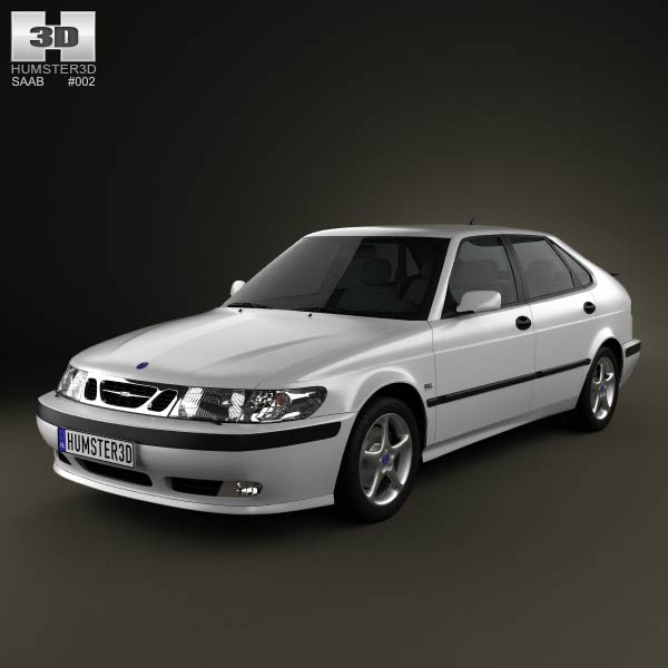 Saab 9-3 Hatchback 5-door 2001 3d car model