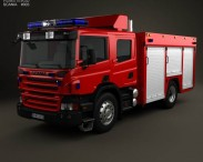 3D model of Scania P Fire Truck 2011