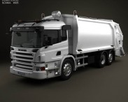 3D model of Scania P Garbage 2011