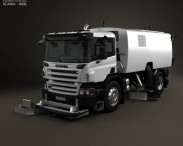 3D model of Scania P Road Cleaner 2011