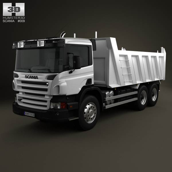 Scania P Tipper 3-axis 2011 3d car model