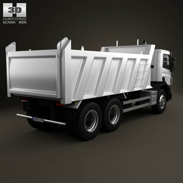 Scania P Tipper 2011 3d model