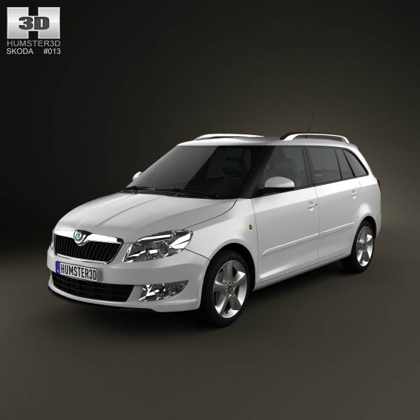 3D model of Skoda Fabia Combi Greenline 2011