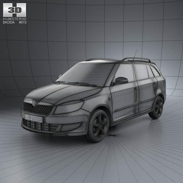 skoda fabia combi greenline 2011 3d model humster3d. Black Bedroom Furniture Sets. Home Design Ideas