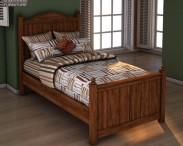 3D model of Ashley Camp Huntington Poster Bed