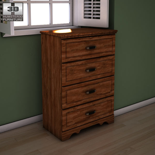 Ashley Camp Huntington Poster Chest 3d model