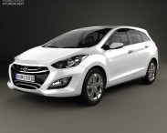 3D model of Hyundai i30 (Elantra) Wagon 2013