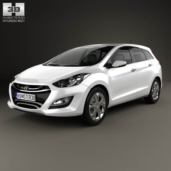 Hyundai i30 (Elantra) Wagon 2013 3d car model