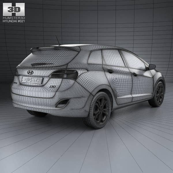 3d model of hyundai i30 elantra wagon 2013