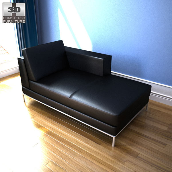 Ikea arild chaise longue 3d model humster3d for Chaise modele
