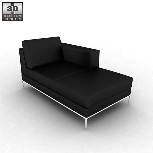 ikea arild chaise longue 3d model humster3d. Black Bedroom Furniture Sets. Home Design Ideas
